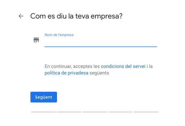 Alta negoci a google My Business