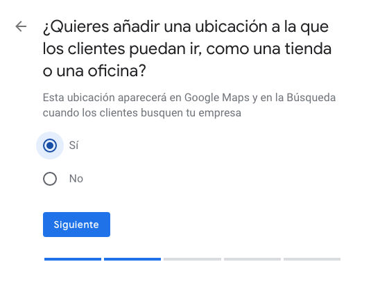 dirección física google my business